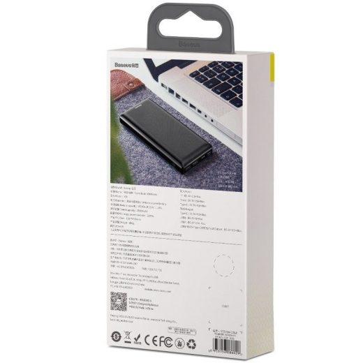 Baseus Mini JA PowerBank 30000 mAh -  2x USB, 1x USB-C  - Fekete