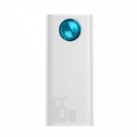 Baseus Amblight Powerbank 30000 mAh - 4x USB + USB-C, QC 3.0, PD 65W - Fehér