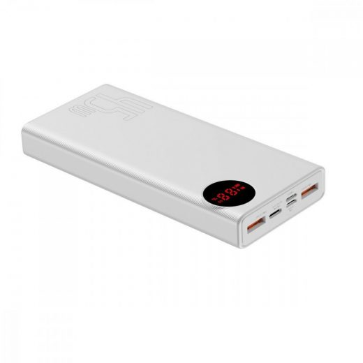 Baseus Mulight Powerbank 20000 mAh - 2x USB, QC, PD, 45W - Fehér