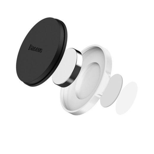 Baseus Small Ears Flat Mágneses Autós Tartó - Műszerfalra - Ezüst