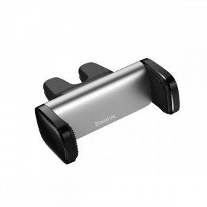 Baseus Steel Cannon Autós Tartó - Szellőzőrácsba - Ezüst