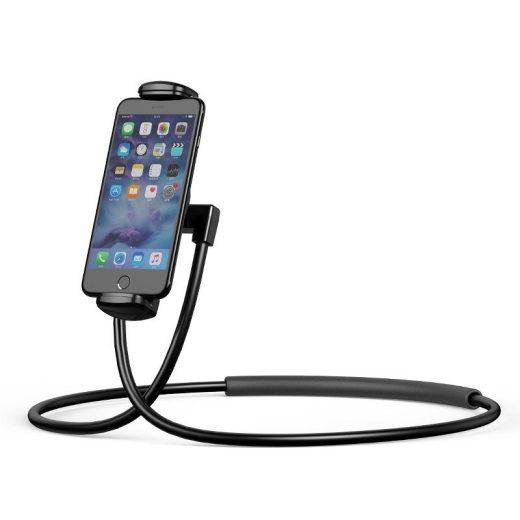 Baseus Necklace Lazy Bracket Nyakra helyezhető telefon és tablet tartó - Fekete