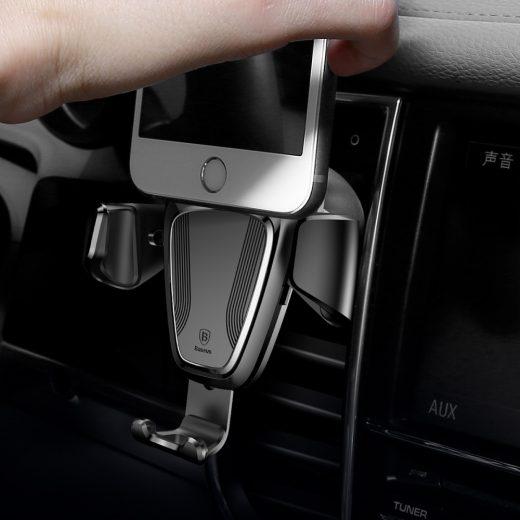 Baseus Autós Tartó Gravity - Szellőzőrácsba - Fekete