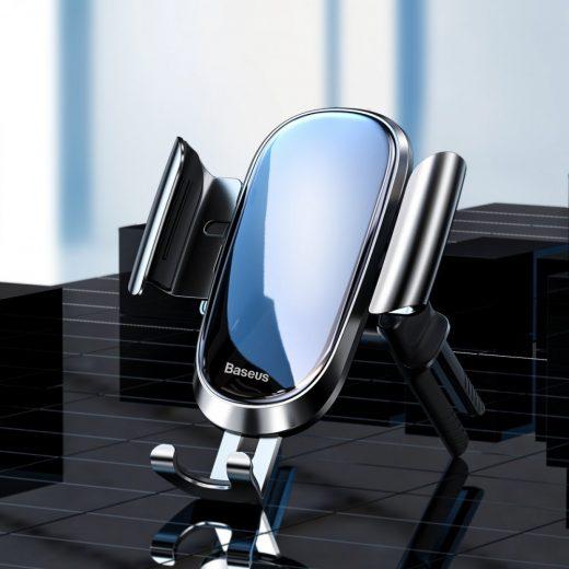 Baseus Future Gravity Autós Tartó - Kerek Szellőzőrácsba - Fekete