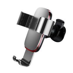Baseus Autós Tartó Metal Age Gravity - Szellőzőrácsba - Ezüst