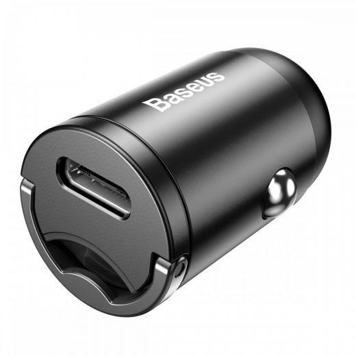 Baseus Tiny Star Mini PPS Autós Töltő - USB-C - 30W - Szürke
