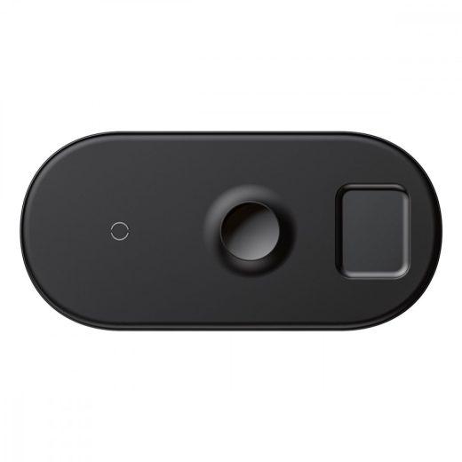 Baseus Smart 3in1 Vezeték Nélküli Töltő - 18W - Fekete