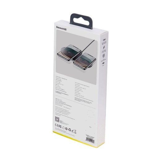 Baseus Simple 2in1 Pro Vezeték Nélküli Töltő - 15W - Fekete