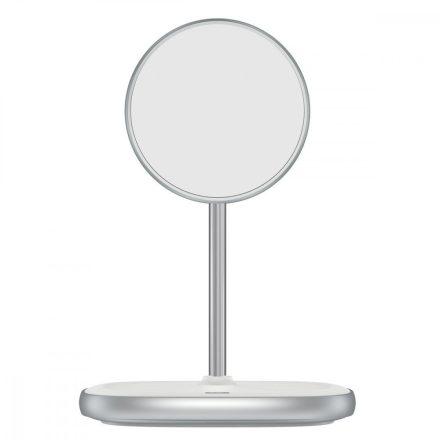 Baseus Swan Vezetéknélküli Töltő és Mágneses Állvány - iPhone 12 - Fehér