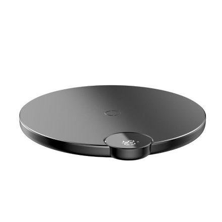 Baseus Vezeték Nélküli Qi Töltő Digtal LED Display - 10W - Fekete