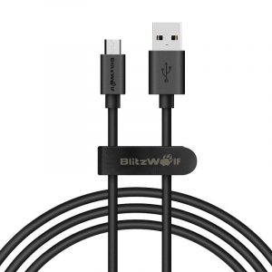 Blitzwolf BW-CB7 USB - Micro USB Kábel - 1m 2,4A - Fekete