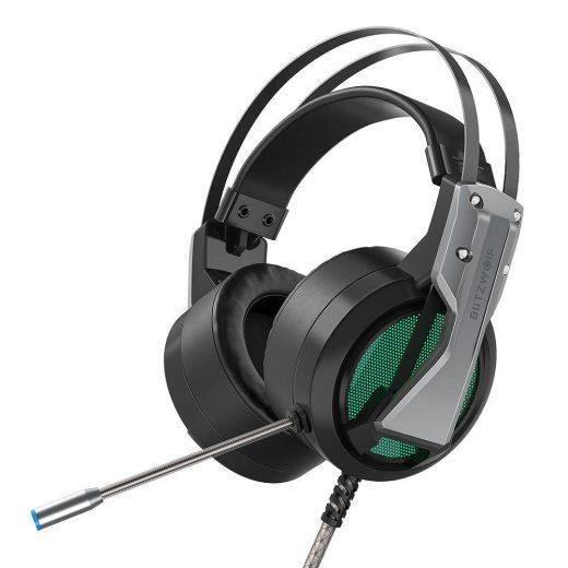 Blitzwolf BW-GH1 Mikrofonos Gamer Fejhallgató