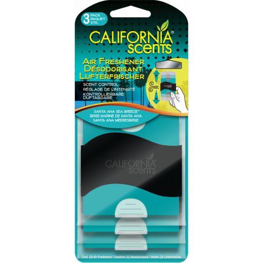 California Scents Santa Ana Sea Breezer Akasztós Autóillatosító - 3 db