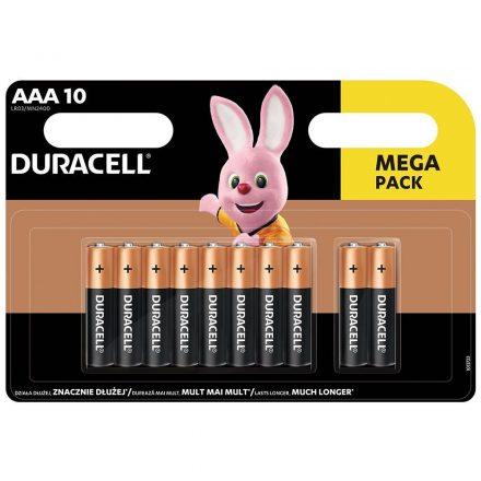 Duracell Basic AAA LR03 MN2400 Mikro Elem x 10 db