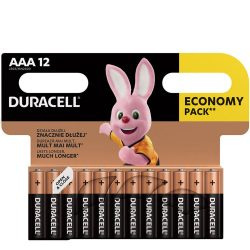 Duracell Basic AAA LR03 MN2400 Mikro Elem, 12 db