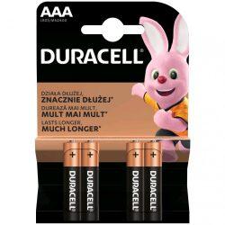 Duracell Basic AAA LR03 MN2400 Mikro Elem x 4 db
