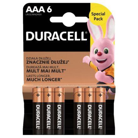 Duracell Basic AAA LR03 MN2400 Mikro Elem x 6 db