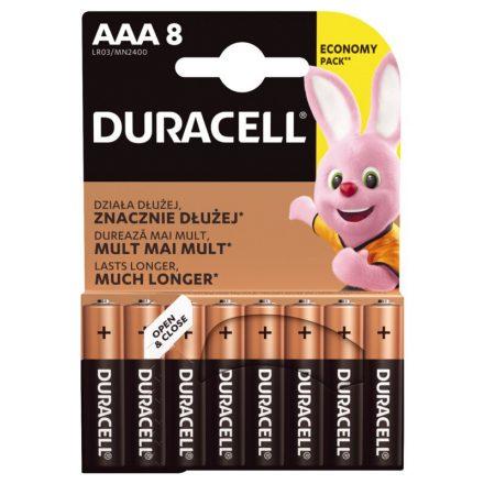Duracell Basic AAA LR03 MN2400 Mikro Elem x 8 db