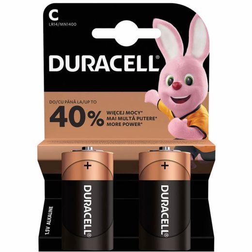 Duracell Basic C LR14 MN1400 Baby Elem, 2 db