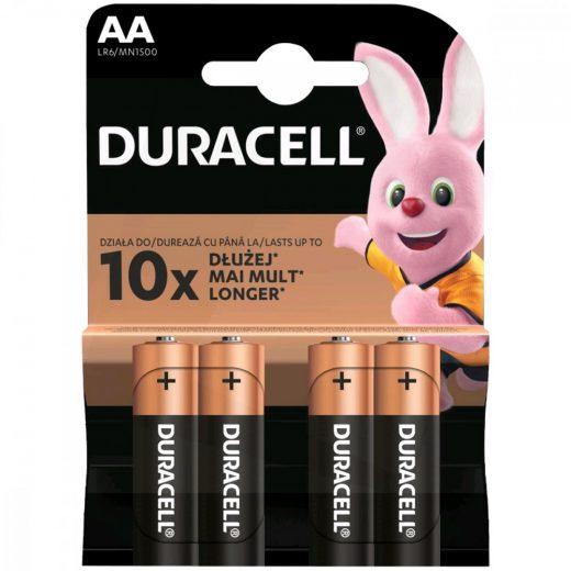 Duracell Basic AA LR6 MN1500 Ceruza Elem x 4 db