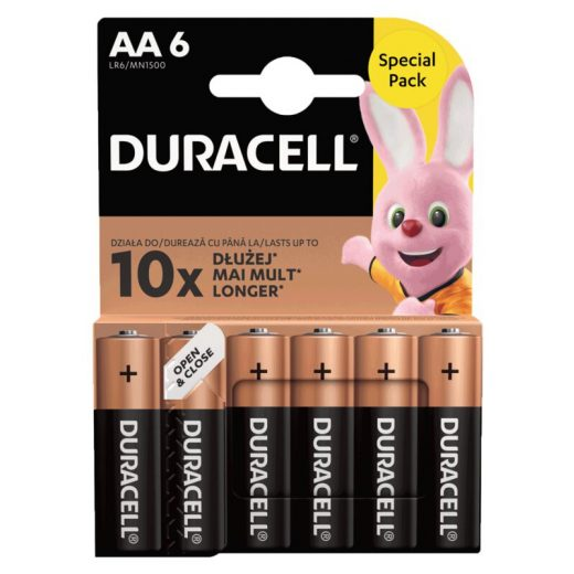 Duracell Basic AA LR6 MN1500 Ceruza Elem, 6 db