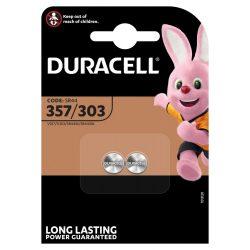 Duracell 357/303 SR44 Gombelem, 2 db