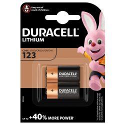 Duracell CR123 3V Lítium Fotó Elem x 2 db