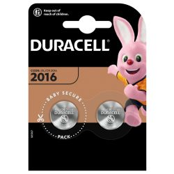 Duracell CR2016 Gombelem x 2 db