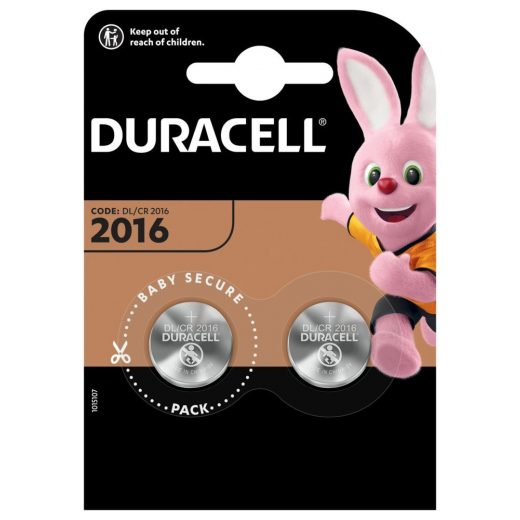 Duracell CR2016 Gombelem, 2 db