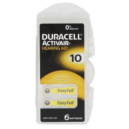Duracell ActiveAir DA 10 Hallókészülék Elem x 6 db