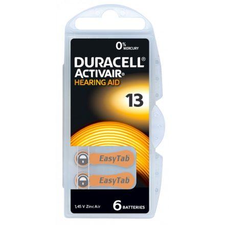 Duracell ActiveAir DA 13 Hallókészülék Elem x 6 db
