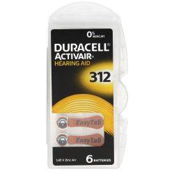 Duracell ActiveAir DA 312 Hallókészülék Elem x 6 db