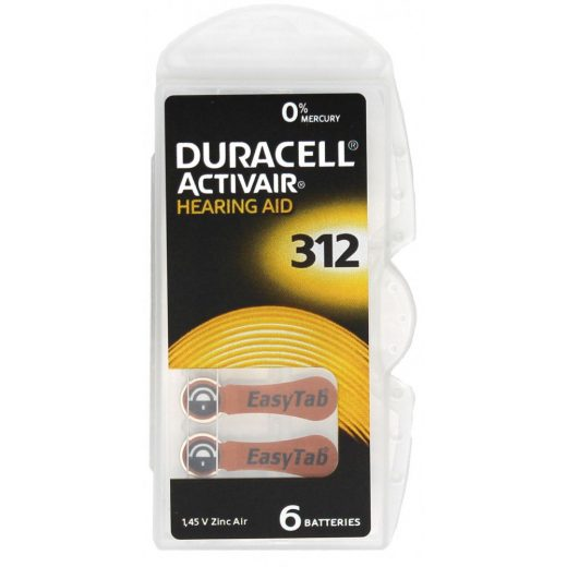 Duracell DA312 Hallókészülék Elem, 6 db