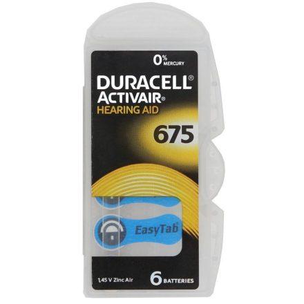Duracell ActiveAir DA 675 Hallókészülék Elem x 6 db