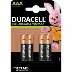 Duracell AAA 850 mAh NiMH akkumulátor, 4 db