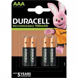 Duracell AAA 900 mAh NiMH akkumulátor, 4 db