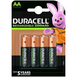 Duracell AA 2500 mAh NiMH akkumulátor - 4 db