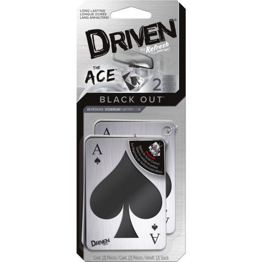 Driven Black Out - Ace - Akasztós Autóillatosító