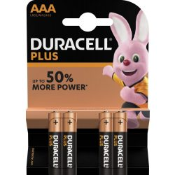 Duracell Plus Alkáli AAA Mikro MN2400 Elem x 4 db