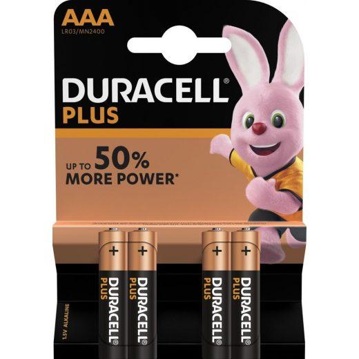 Duracell Plus Power AAA Mikro MN2400 Elem - 4 db