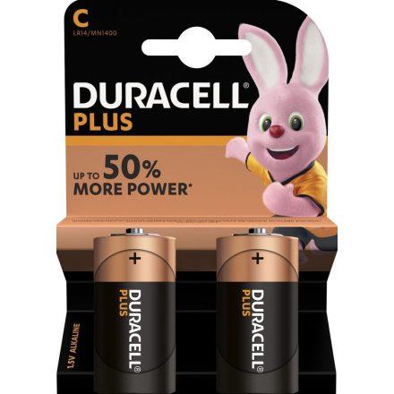 Duracell Plus Alkáli C Baby MN1400 Elem x 2 db