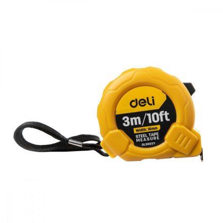 Deli Tools Acél Mérőszalag 3m - 16mm - 10ft - EDL9003Y
