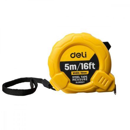 Deli Tools Acél Mérőszalag 5m - 19mm - 16ft - EDL9005Y