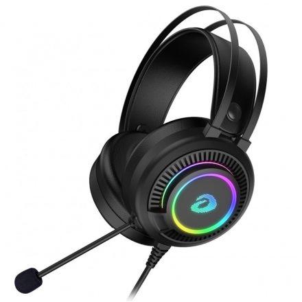 Dareu EH416 Mikrofonos Gamer Fejhallgató - Fekete
