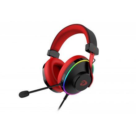 Dareu EH745 Mikrofonos Gamer Fejhallgató - RGB - Piros