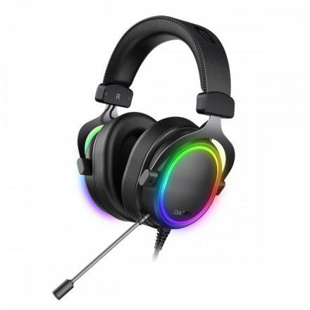 Dareu EH925s PRO Mikrofonos Gamer Fejhallgató - RGB - Fekete