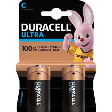Duracell Ultra C Baby LR14 MX1400 Alkáli Elem x 2 db