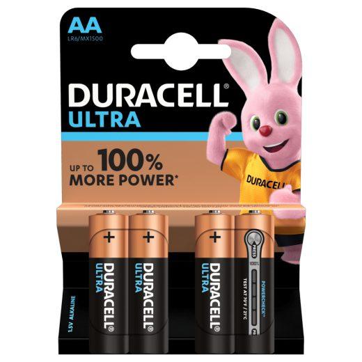 Duracell Ultra AA Ceruza LR6 MX1500 Alkáli Elem - 4 db