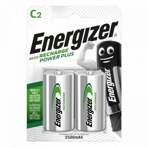Energizer Power Plus C Baby NiMH akkumulátor 2500 mAh, 2 db