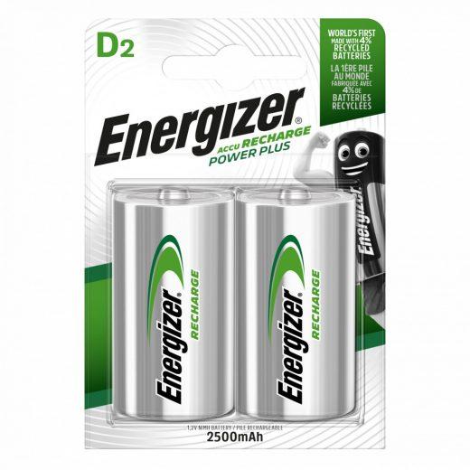 Energizer Power Plus D 2500 mAh NiMH akkumulátor, 2 db